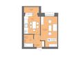 Жилой комплекс Да Винчи, дом 7: 1-комнатная 42,53 кв.м