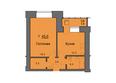 Жилой комплекс SKY SEVEN, б/с 8, 2 оч: Планировка однокомнатной квартиры 45 кв.м
