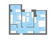 Жилой комплекс Да Винчи, дом 7: 2-комнатная 59,34 кв.м