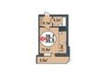 Жилой комплекс ПОКРОВСКИЙ, б/с 3, 4, 5: Планировка однокомнатной квартиры 35,5 кв.м