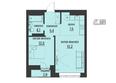 АКАДЕМИЯ, 1 корпус: 2-комнатная 45,37 кв.м