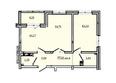 КОРИЦА, дом 6: 2-комнатная 57,26 кв.м