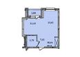 КОРИЦА, дом 4: 1-комнатная 38,64 кв.м