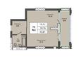 Жилой комплекс PRIME HOUSE (Прайм хаус): Планировка однокомнатной квартиры 39,76 кв.м