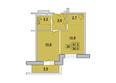 Первый Ленинский квартал, д. 3: 2-комнатная 35; 35,2; 35,3 кв.м