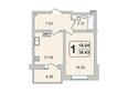 ГРАНД-ПАРК, б/с 2-2: 1-комнатная 38,43 кв.м