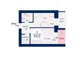 Жилой комплекс SCANDIS (Скандис), дом 5: Планировка однокомнатной квартиры 43,5 кв.м