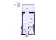 Никитина 128: Планировка 1-комн 25,71 м²