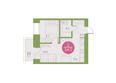 Арбан Smart на Краснодарской, дом 1: 2-комнатная 34 кв.м