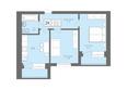 Жилой комплекс Да Винчи, дом 5: 2-комнатная 59,34 кв.м