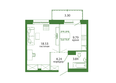 Life (Лайф), дом 1, б/с 1: Планировка 1-комн 39,7 м²