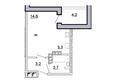 Первый Ленинский квартал, д. 2: Планировка 1-комн 28,8 м²