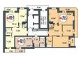 Жилой комплекс ПОКРОВСКИЙ, б/с 3, 4, 5: Блок-секция 3. Планировка типового этажа