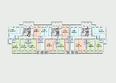 Жилой комплекс Комарова-13: Планировка 2 этажа