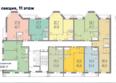 ПРИБРЕЖНЫЙ: Планировка типового этажа ЖК Прибрежный, 1 подъезд