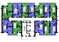 Жилой комплекс СЕРЕБРЯНЫЙ, квр 1, дом 3: Секция 2. Планировка типового этажа.