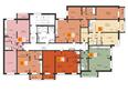 Жилой комплекс РЕВОЛЮЦИЯ: Подъезд 3. Планировка типового этажа