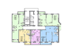 МАТРЕШКИН ДВОР 105, дом 2: Блок-секция 1. Планировка 11-13 этажей