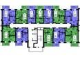 Жилой комплекс ТИХИЕ ЗОРИ, дом 4 (Красстрой): Секция 3. Типовая планировка этажа.