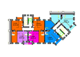 Жилой комплекс СЕРЕБРЯНЫЙ БЕРЕГ, дом 12: Подъезд 7-8. Планировка типового этажа