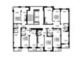 Жилой комплекс ОЛИМПИЙСКИЙ: Планировка типового этажа, 2 б/с
