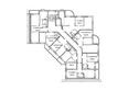 Жилой комплекс ВЕСЕННИЙ, Заречная 21, дом 2: Блок-секция 2. Планировка 3-6 этажей