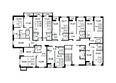 ЗОРКИЙ: Подъезд 1. Планировка 10-17 этажей