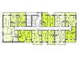 Жилой комплекс СИБИРЯЧКА: Блок-секция 2. Планировка типового этажа