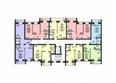 Жилой комплекс СВОБОДА, дом 6: Подъезд 1. Планировка 2,4 этажей