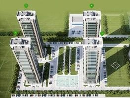 1-комнатная квартира, 38  м², 24/25 этаж