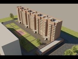 2-комнатная квартира, 61.15  м², 3-4/10 этаж