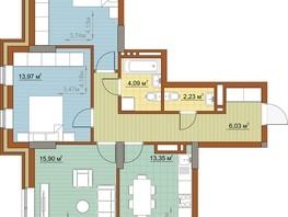 3-комнатная квартира, 78.63  м², 8-14/23 этаж