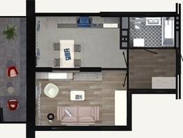 1-комнатная квартира, 38.41  м², 21/24 этаж
