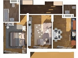 2-комнатная квартира, 53.73  м², 2-5/24 этаж