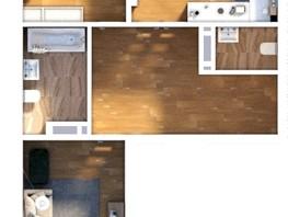 3-комнатная квартира, 69.73  м², 2-7/24 этаж
