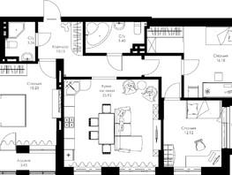 4-комнатная квартира, 95.09  м², 8-13/24 этаж