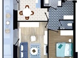 2-комнатная квартира, 50.7  м², 4/16 этаж
