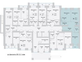 3-комнатная квартира, 70.2  м², 1/10 этаж