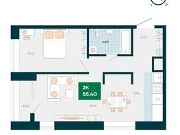 Продается 2-комнатная квартира Akadem Klubb, дом 2, 55.4  м², 5150000 рублей