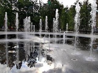 В Центральном парке забьет «сухой» фонтан