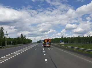 В Шелеховском районе отремонтировали 10 км трассы «Байкал»