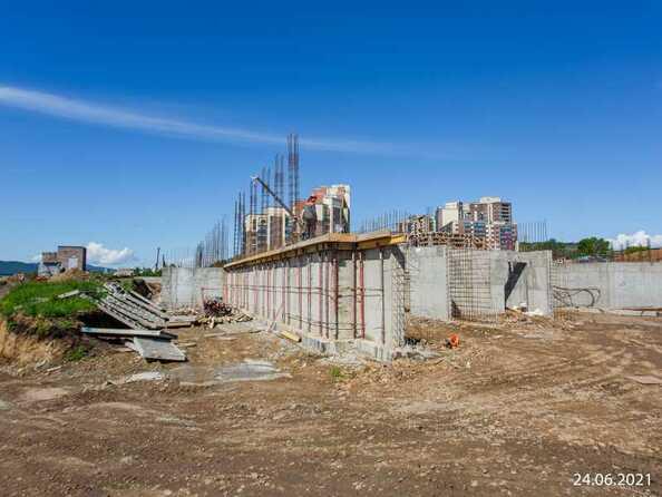 Ход строительства 24 июня 2021