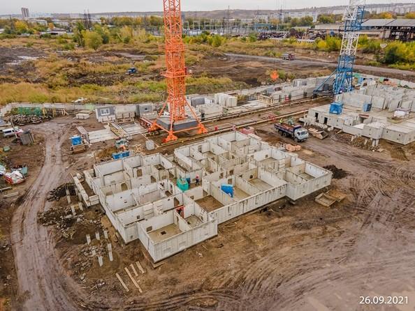 Ход строительства 26 сентября 2021