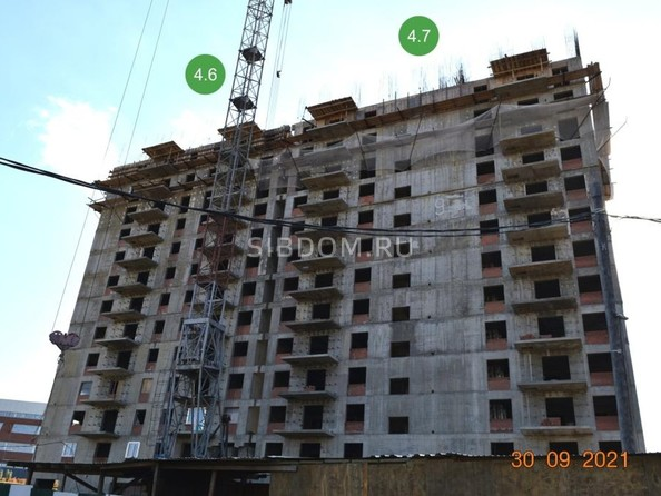 Ход строительства 30 сентября 2021