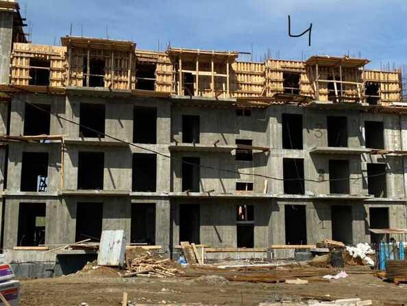Ход строительства 2 июня 2021. Блок-секция 4