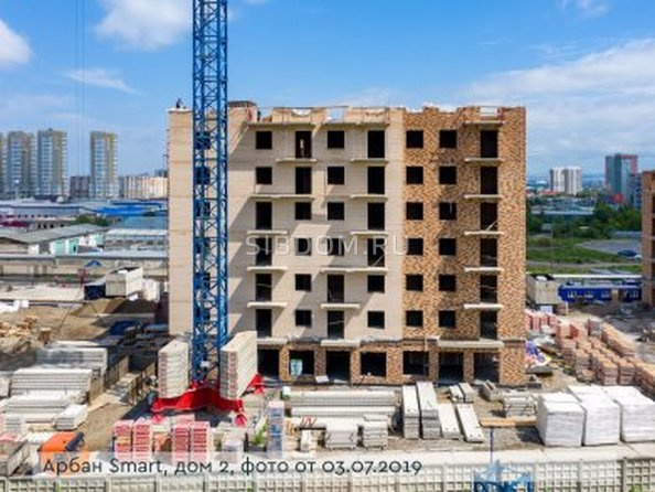 Фото Жилой комплекс Арбан SMART (Смарт) на Шахтеров, д 2, Ход строительства 5 июля 2019