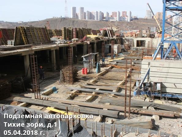 Фото Жилой комплекс ТИХИЕ ЗОРИ, дом 1 (Красстрой), Ход строительства 5 апреля 2018. Подземная парковка