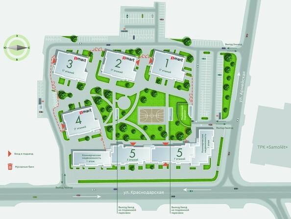 Расположение домов в ЖК «Арбан Smart на Краснодарской»
