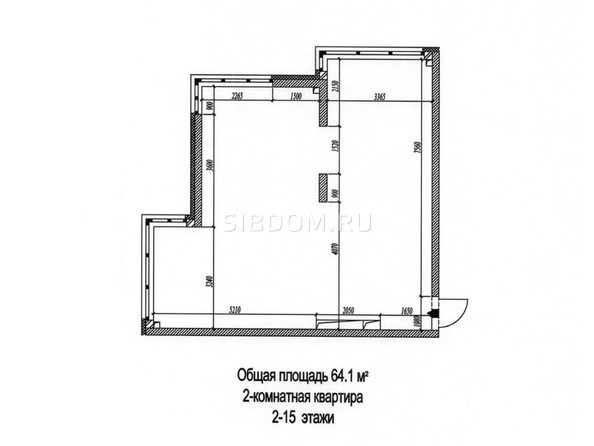 2-комнатная 64.1 - 64.4 кв.м