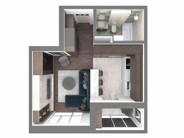 1-комнатная 40,53; 40,76 кв.м